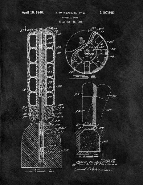 Nfl Drawing - Football Training Equipment Patent by Dan Sproul