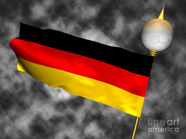 2010 Fifa World Cup Wall Art - Photograph - Football World Cup Cheer Series - Germany by Ganesh Barad