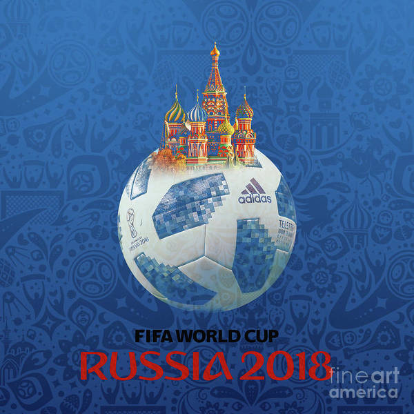 Super Cup Wall Art - Painting - Football World Cup In Russia  by Gull G