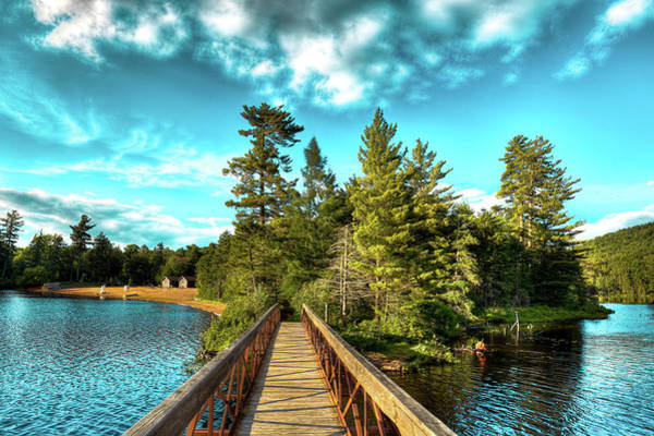 Photograph - Footbridge At Nicks Lake by David Patterson
