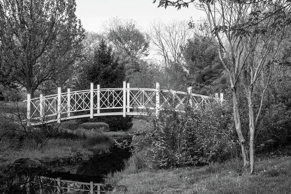 Photograph - Footbridge In Black And White by Angie Tirado