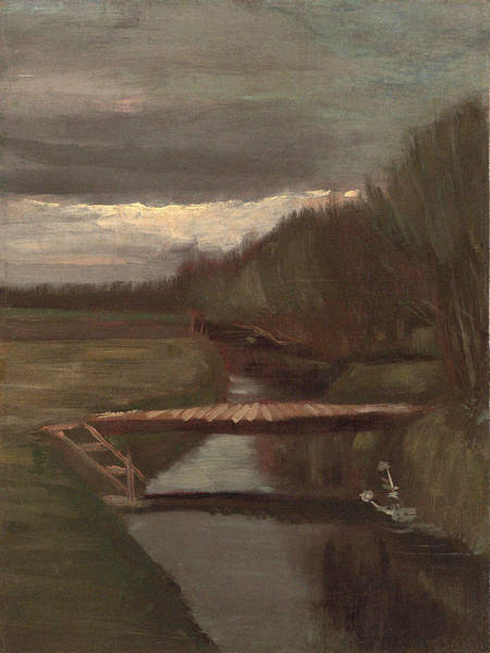 Ditch Painting - Footbridge Over The Stream, 1883 by Vincent Van Gogh
