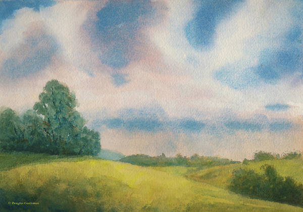 Painting - Foothills And Sky by Douglas Castleman