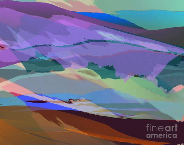Digital Art - Foothills by Jacqueline Shuler