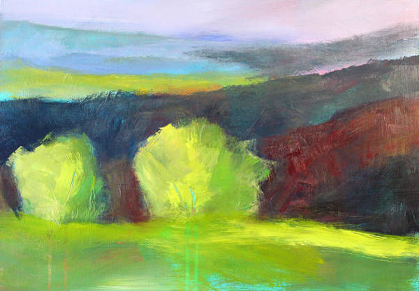 Semi Abstract Painting - Foothills by Nancy Merkle