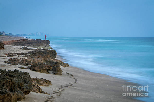 Art Print featuring the photograph Footprints And Rocks by Tom Claud