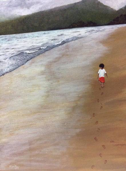 Painting - Footprints by Elizabeth Mundaden