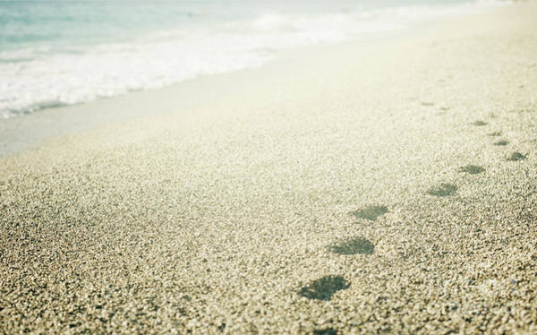 Footstep Wall Art - Photograph - Footprints On The Beach by Jelena Jovanovic