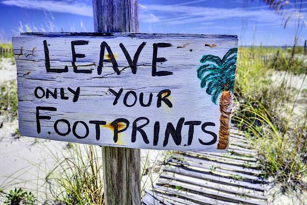 Photograph - Footprints Only by JC Findley