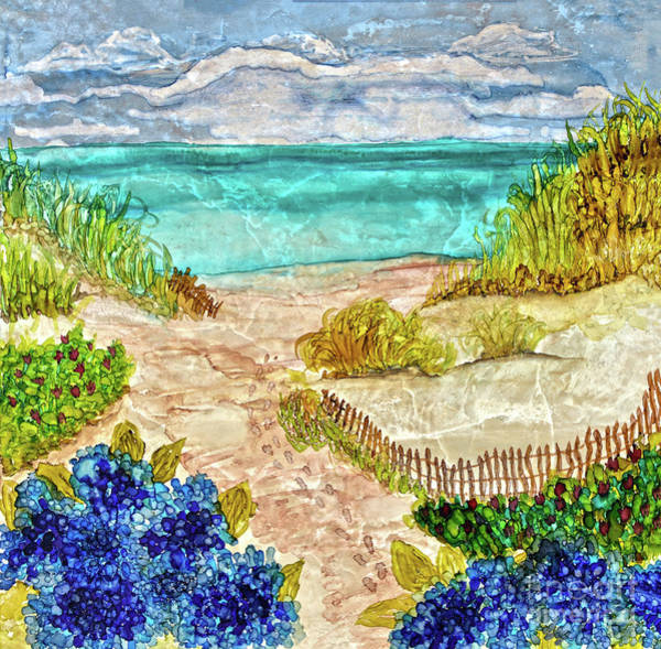 Painting - Footsteps To Paradise  by Christine Dekkers