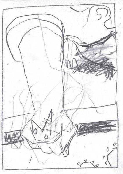 Drawing - For B Story 4 6 by Artist Dot