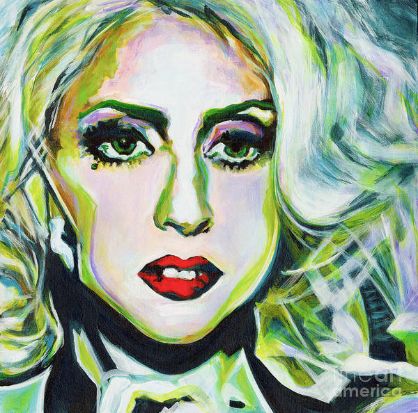 Painting - For Being Different Is Easy But To Be Unique Its More Complicated Thing. Lady Gaga by Tanya Filichkin