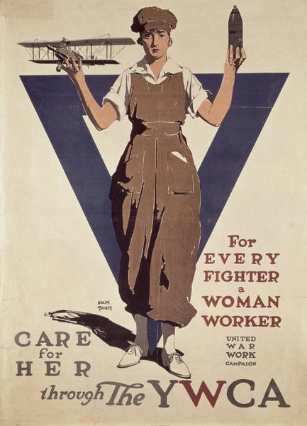 Crt Painting - For Every Fighter A Woman Worker by Adolph Treidler