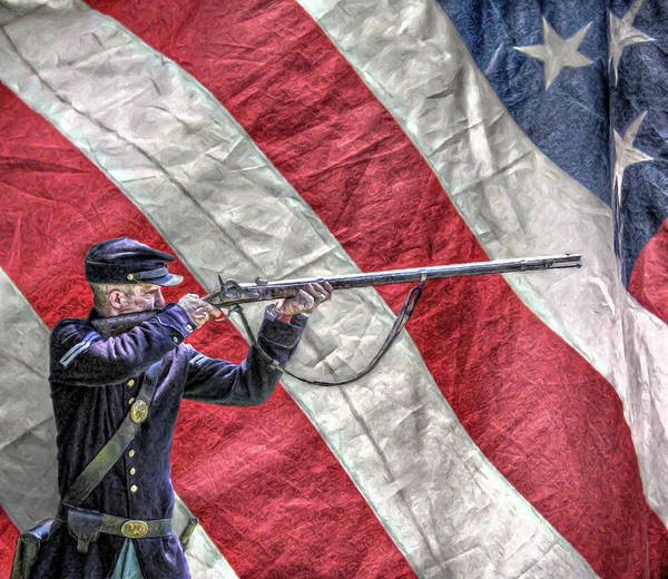For God And Country Union Soldier  Art Print