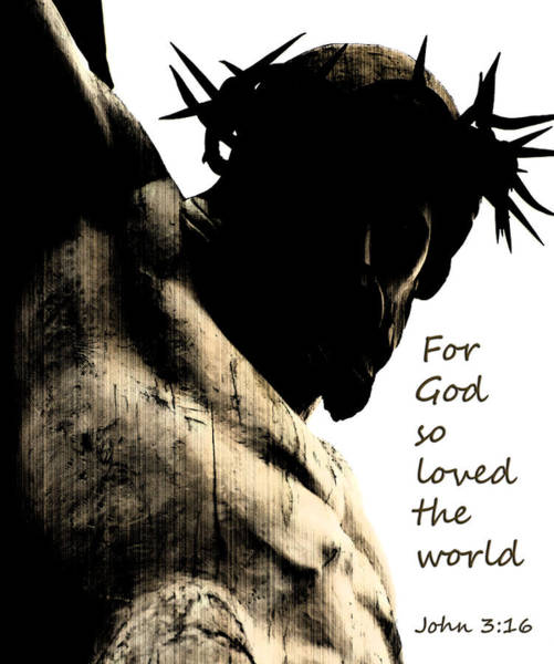 Photograph - For God So Loved The World John 3 16 by Jani Freimann