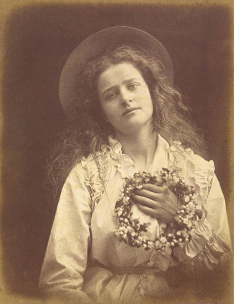 Hats For Sale Photograph - For I'm To Be Queen Of The May Mother I'm To Be Queen Of The May by Julia Margaret Cameron