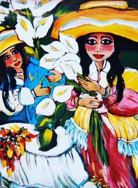 Sombrero Painting - For My Latina Sisters by Therese Fowler-Bailey