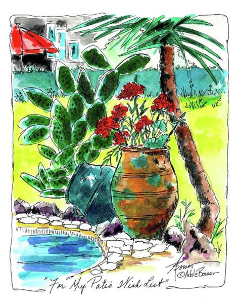 Painting - For My Patio Wish List  by Adele Bower