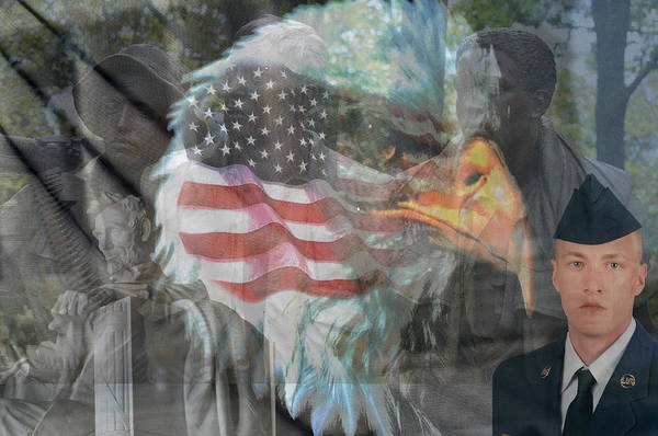 Blanton Wall Art - Photograph - For Our Country by Teresa Blanton