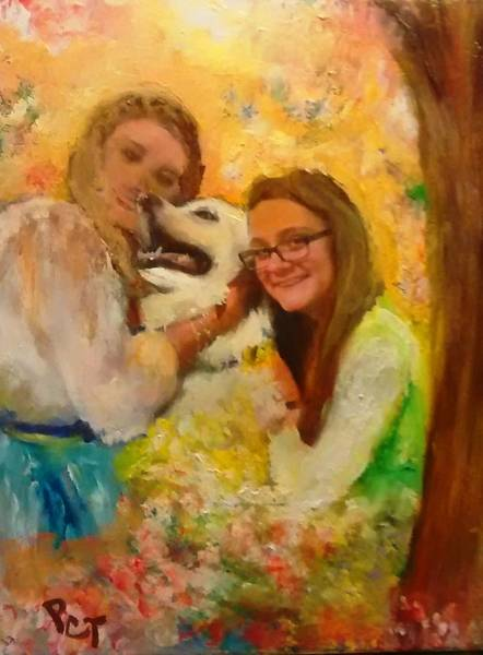Husky Mixed Media - For Sweet Sixteen Hannah by Patricia Clark Taylor
