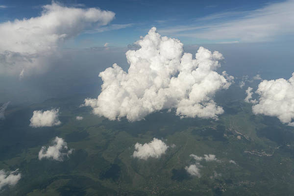 Photograph - For The Love Of Window Seats - Beautiful Clouds And Mountains by Georgia Mizuleva