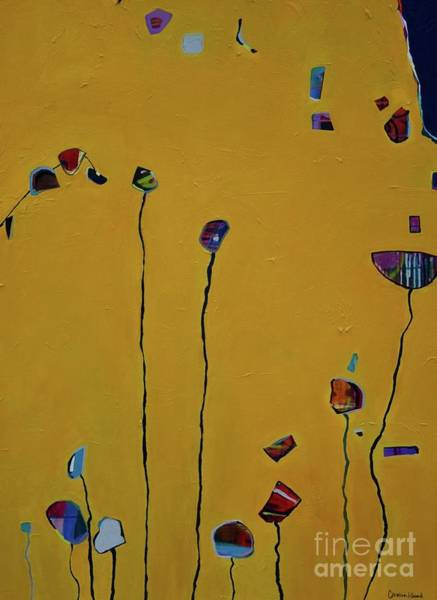 Mustard Field Painting - For Violet  by Christina Hibbard