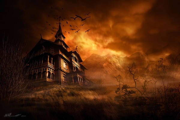 Gloomy Wall Art - Digital Art - Forbidden Mansion by Svetlana Sewell