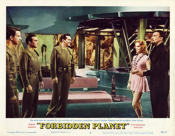 Leslie Nielsen Wall Art - Photograph - Forbidden Planet In Cinemascope Retro Classic Movie Poster Indoors by R Muirhead Art