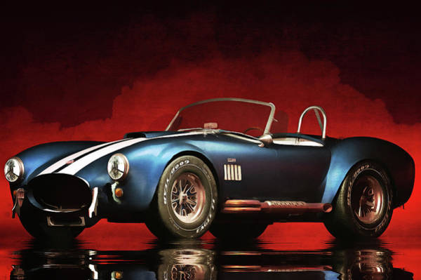 Painting - Ford Cobra by Jan Keteleer