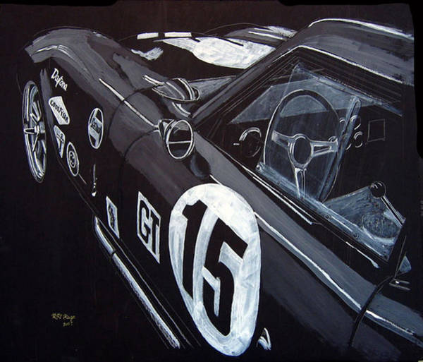 Painting - Ford Cobra Racing Coupe by Richard Le Page