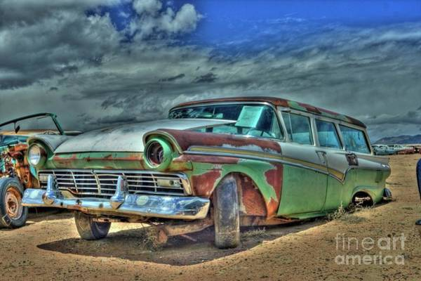 Photograph - Ford Country Squire Wagon by Tony Baca