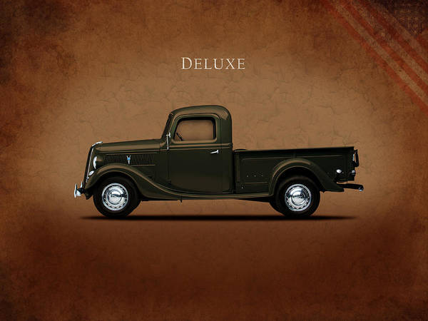 Ford Photograph - Ford Deluxe Pickup 1937 by Mark Rogan