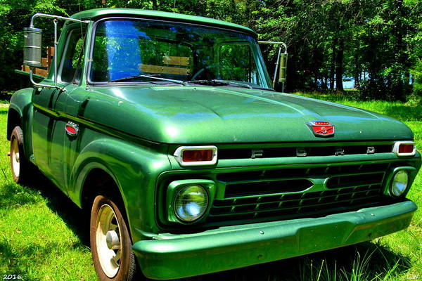 Photograph - Ford F100 by Lisa Wooten