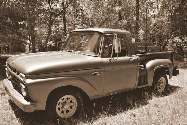 Photograph - Ford F100 Sepia by Lisa Wooten
