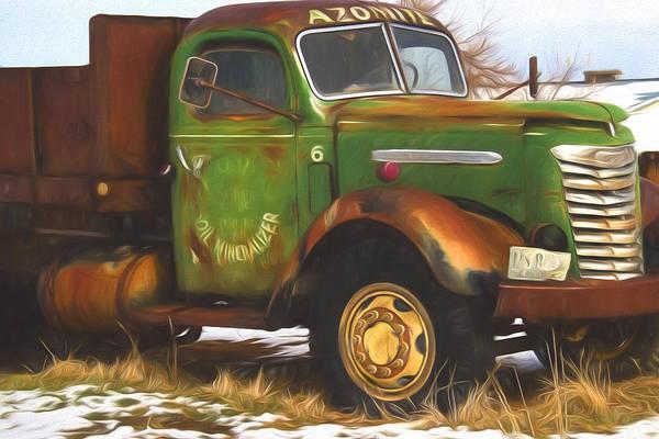 Fashion Plate Digital Art - Ford Farm Truck Painterly Impressions by Nick Gray