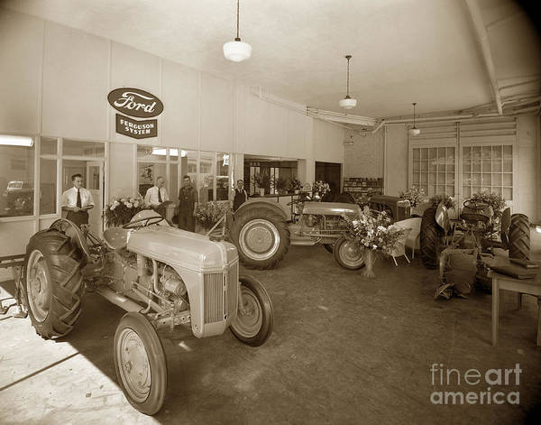 Photograph - Ford Ferguson System Ford Tractor Circa 1940 by California Views Archives Mr Pat Hathaway Archives