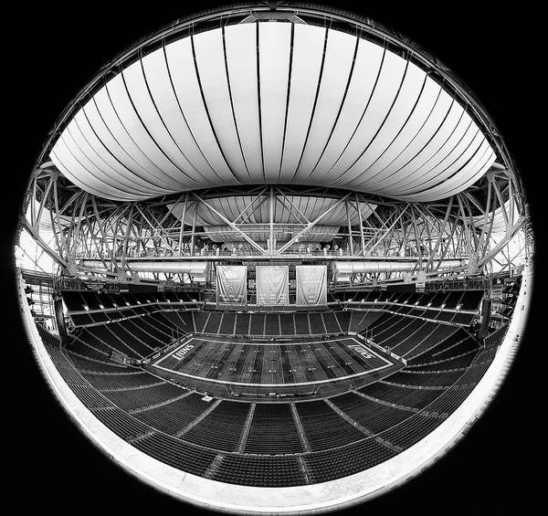 Detroit Lions Photograph - Ford Field Black And White by Robert Hayton