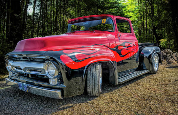 Photograph - Ford Flame Truck by Bill Posner
