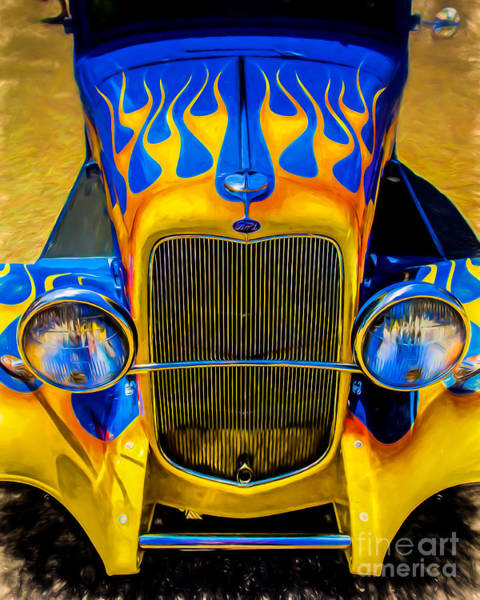 Wall Art - Photograph - Ford Flames by Perry Webster