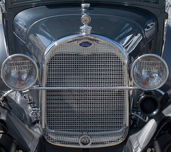 Photograph - Ford Grill by Brian Kinney