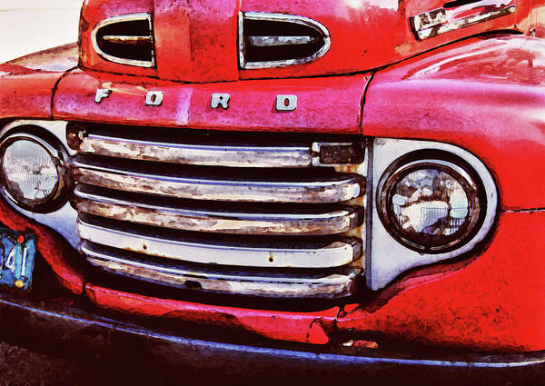 Truck Digital Art - Ford Grille by Michael Thomas