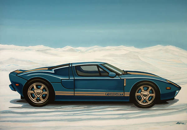 Wall Art - Painting - Ford Gt 2005 Painting by Paul Meijering