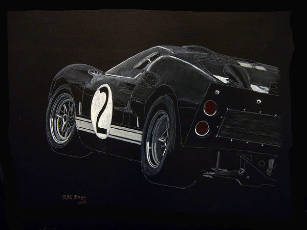 Painting - Ford Gt40 Racing by Richard Le Page