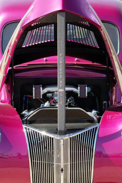 Photograph - Ford Hot Rod Grille by Jill Reger