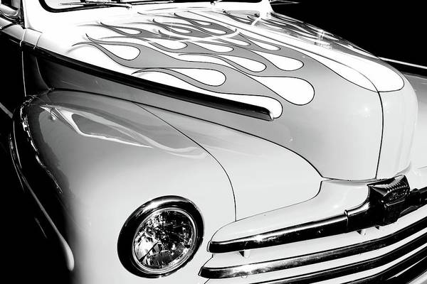 Photograph - Ford In Black And White by Carol Montoya