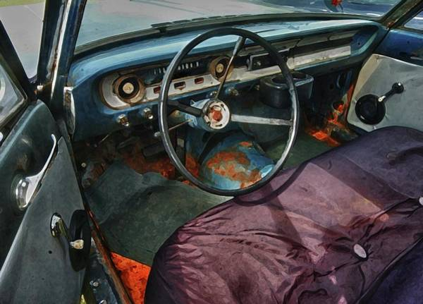 Pick Up Truck Digital Art - Ford Interior by Michael Thomas