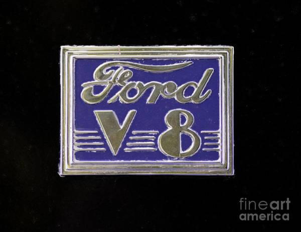 Photograph - Ford Logo by Les Palenik