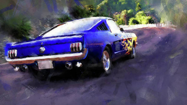 Painting - Ford Mustang Fastback 1966 - 03 by Andrea Mazzocchetti