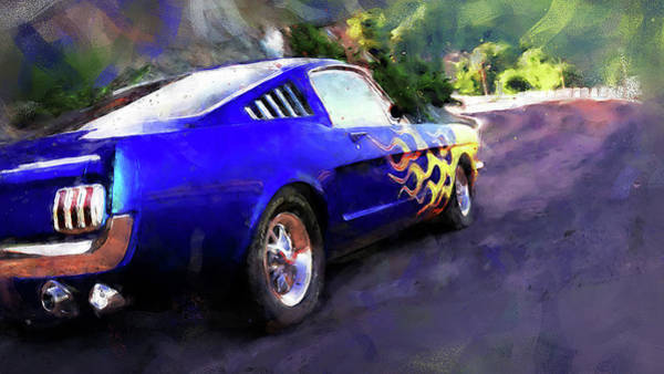 Painting - Ford Mustang Fastback 1966 - 04 by Andrea Mazzocchetti