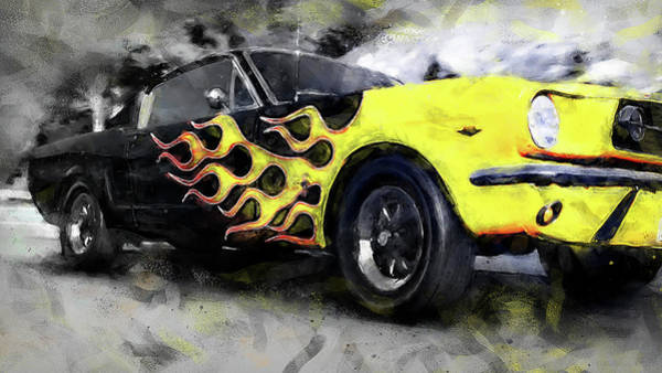 Painting - Ford Mustang Fastback 1966 - 05 by Andrea Mazzocchetti